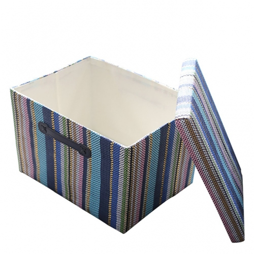 Purple Cardboard Storage Box - Decorative Storage Box with Lid for Office Organizer, Decorative Storage Baskets Organizer Bins with Lids, Empty Gift B
